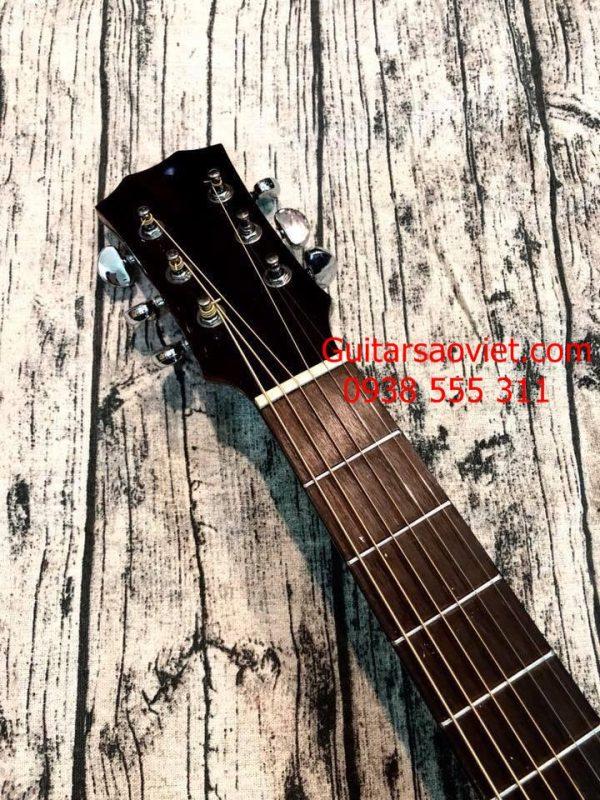 Guitar Acoustic có ty chống cong cần
