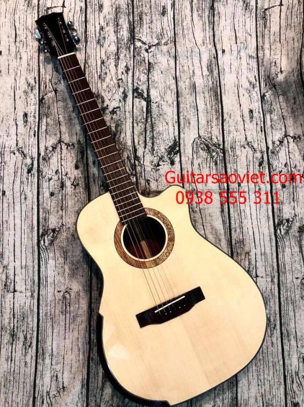 Guitar Acoustic gỗ thịt có ty