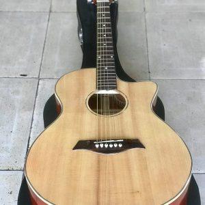 Guitar Acoustic Gỗ thịt nguyên tấm giá rẻ