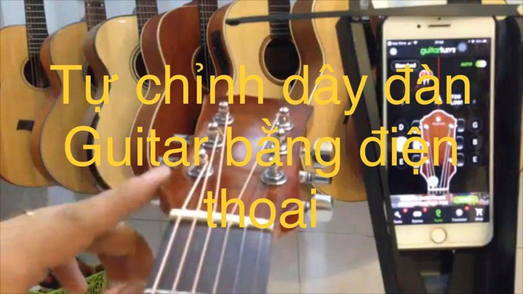 Chỉnh dây đàn guitar bằng điện thoại